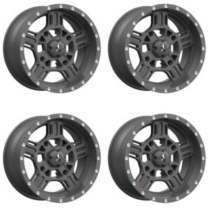 4-ATV-UTV-Wheels-Set-18in-MSA-M32-Axe-Matte-Gray-4-156-0mm-550
