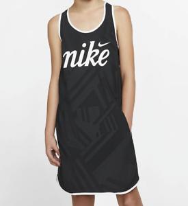 Vestito Nike Sportswear Tempo-Nero AQ9168-010 Ragazze XS S L 6-8-10-12-13 anni
