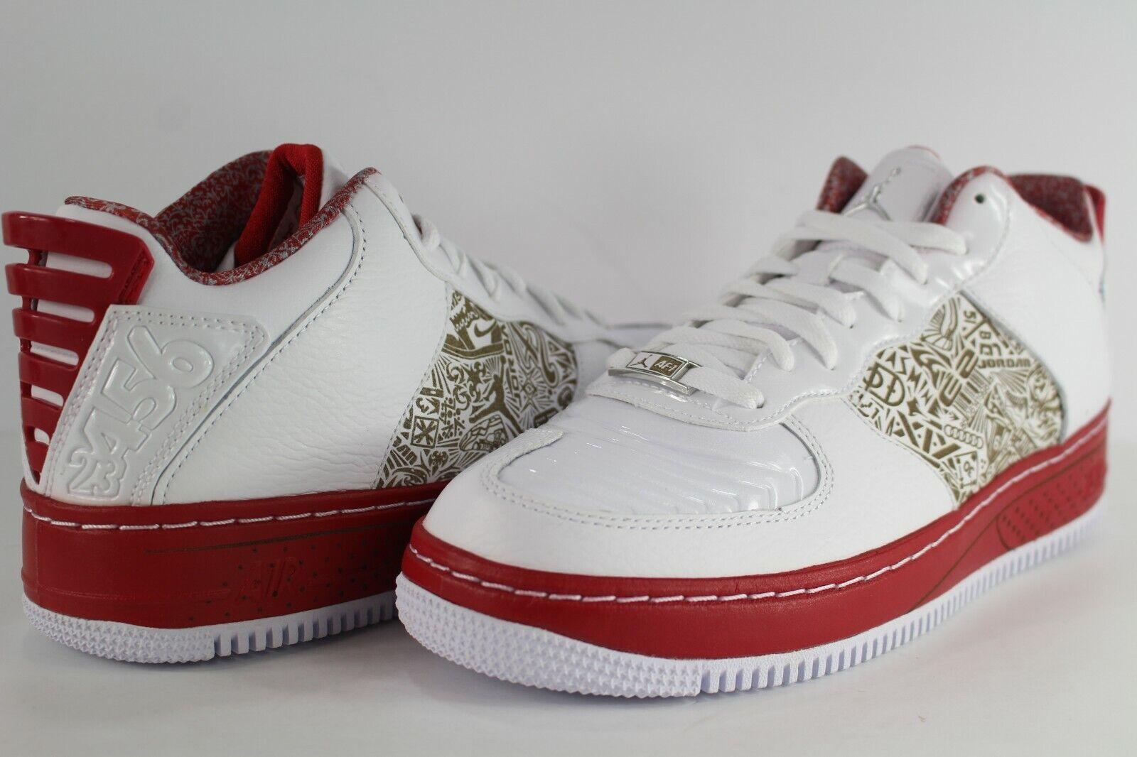 Nike AFJ Air Force Jordan 20 XX Low bianca Metallic  argento Varsity rosso 332122 -101  economico e di alta qualità