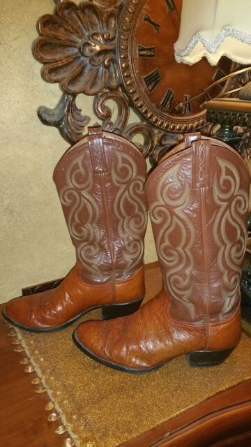 3c9a0a59a02 Tony Lama 8437 Amazonas Men's smooth ostrich cowboy round Toe Leather,Size  8.5D