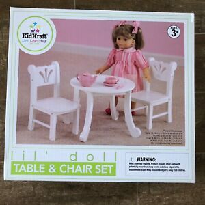 Image Is Loading KidKraft Lil 039 Doll Toy Table Amp Chair