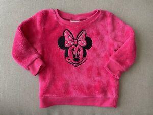 NWT Baby Toddler Girl/'s DISNEY MINNIE MOUSE Kiss Sweatshirt 12M 18M 2T Valentine