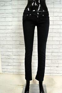DONDUP-Pantalone-Blu-Donna-Taglia-40-Pants-Woman-White-Jeans-Corto-alla-Caviglia