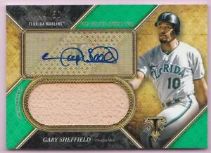 GARY-SHEFFIELD-2017-TOPPS-TRIPLE-THREADS-EMERALD-BAT-AUTO-44-50-AUTOGRAPH