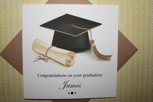 Handmade Personalised Congratulations On Your Graduation Card Ebay