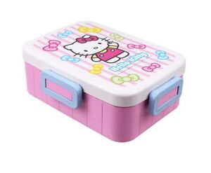 33b3c95d4d Hello Kitty Stripes Bento Lunch Box Food Container PIcnic Storage ...