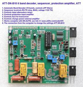 Protection for the amplifier + Decoder Bands HF SD2933 MRF150 BLF188 BLF578