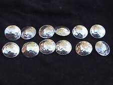 Twelve Handmade Real Mercury Silver  Dime Buttons