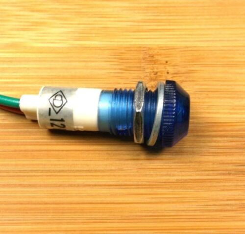 4 BBT 12 volt Blue LED Low-Profile Indicator Lights
