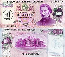 URUGUAY 1000 Pesos OP N$1 Banknote World Money Currency BILL p56 S American Note