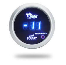 "2"" 52mm -14~30 PSI Blue Digital LED Turbo Boost Gauge Universal For Car US STOCK"