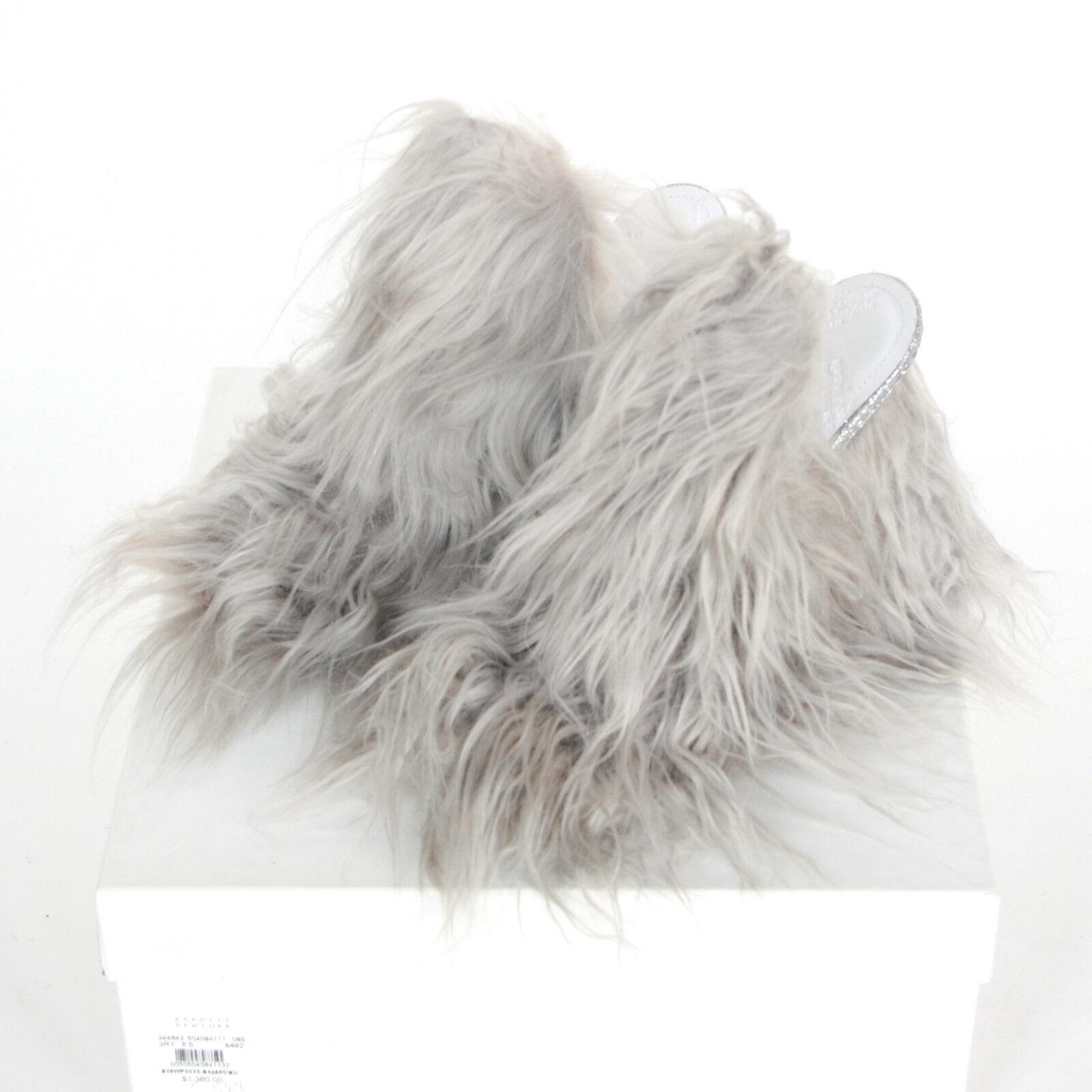 i nuovi stili più caldi MAISON MARTIN MARGIELA  1360 faux fur glitter glitter glitter mules high heel scarpe 35.5 5.5 NEW  negozio online outlet