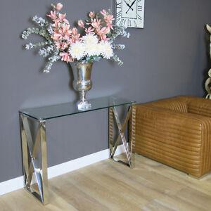 Konsolentisch Modern konsolentisch wandtisch glas metall vintage modern impressionen