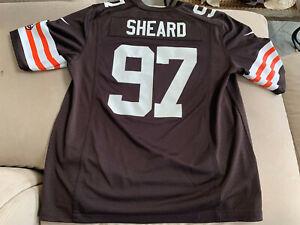 Nike On Field Cleveland Browns #97 Jabaal Sheard Jersey Mens M ...