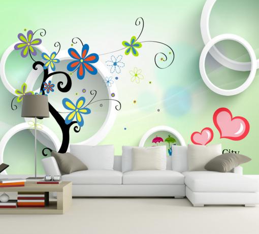 3D Circle 5607 Wallpaper Murals Wall Print Wallpaper Mural AJ WALL UK Kyra