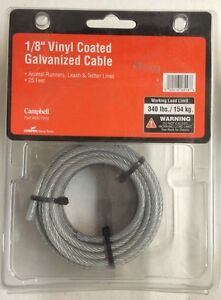 1 8 Quot Vinyl Coated Galvanized Cable 25 Animal Runner Campbell