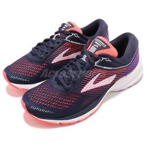 Brooks-Launch-5-Navy-Coral-Purple-Women-Running-Training-Shoes-120266-1B