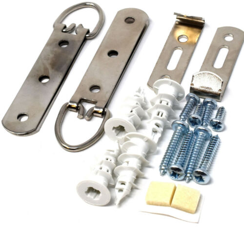 SECURE HEAVY DUTY LARGE PICTURE MIRROR HANGING KIT NYLON PLASTERBOARD FIXINGS
