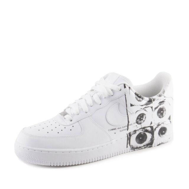 Nike Mens Air Force 1 '07/SUPREME/CDG White/White-White