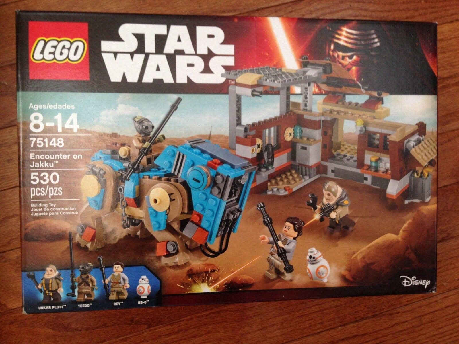 Factory Sealed Lego Star Wars 75148 Encounter Jakku Rey BB8 Teedo Unkar Plutt