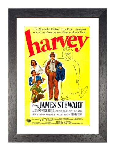 Harvey Vintage Movie Picture James Stewart Photo Old Film Advert Poster