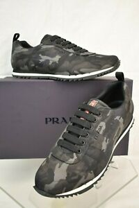 6b23e2f9 Details about NIB PRADA FUMO CAMOUFLAGE NYLON LETTERING LOGO LACE UP  SNEAKERS 11 US 12