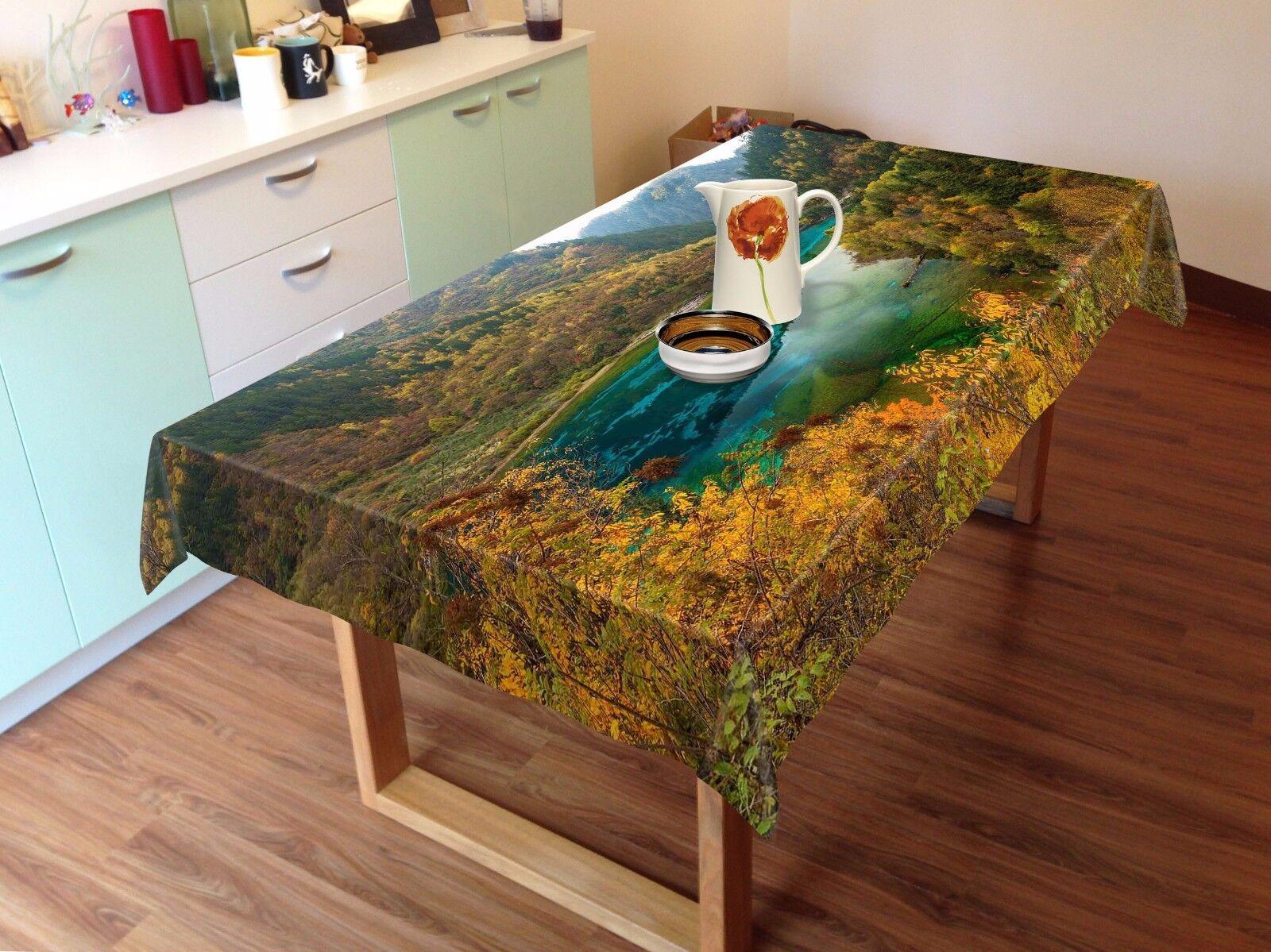3D Mountain 5 Tablecloth Table Cover Cloth Birthday Party AJ WALLPAPER UK Lemon