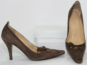 J-Crew-70596-Pumps-3-034-Heels-Tassels-Womens-Brown-Suede-Leather-Shoes-Size-8
