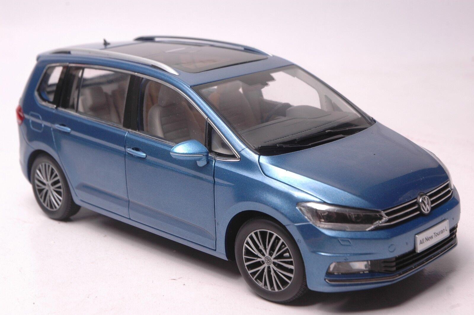 VOLKSWAGEN TOURAN L 2016 modèle de voiture en échelle 1  18 Bleu  magasin d'usine