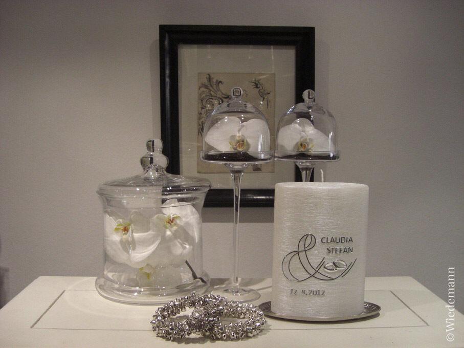 Hochzeitskerze 250x60mm 2 flammig mit Goldenem Herz + Ringen Kerzen Kerzen Kerzen Wiedemann 02674d