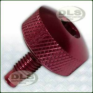 Details about Top Hose Bleed Screw Anodised Red Land Rover Defender Td5  Diesel (PYP10008RED)