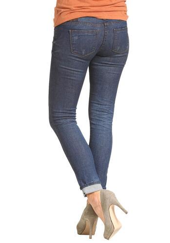 Seconda Elefante Jeans Nuova Verde Chofu Pelle Con Indaco Etichetta Uno Donna UOHd6qq