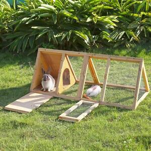 118*50*45cm Wooden Chicken Poultry Coop Hen house Rabbit Hutch Run Pet Cage S9S8