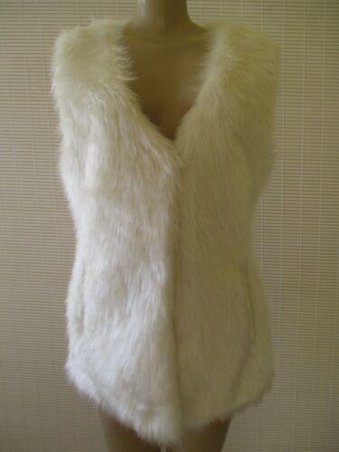 White Fur Faux Nwt S Størrelse Ermeløs Iman Vest fPvWgqPp