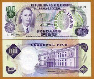 Philippines-100-Piso-ND-1970-Pick-157-157b-UNC
