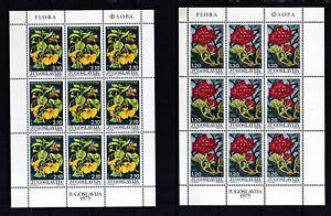 PréVenant Yougoslavie 1975 Tamponné Klb. Minr. 1601-1606 Plants-afficher Le Titre D'origine Haut Niveau De Qualité Et D'HygièNe