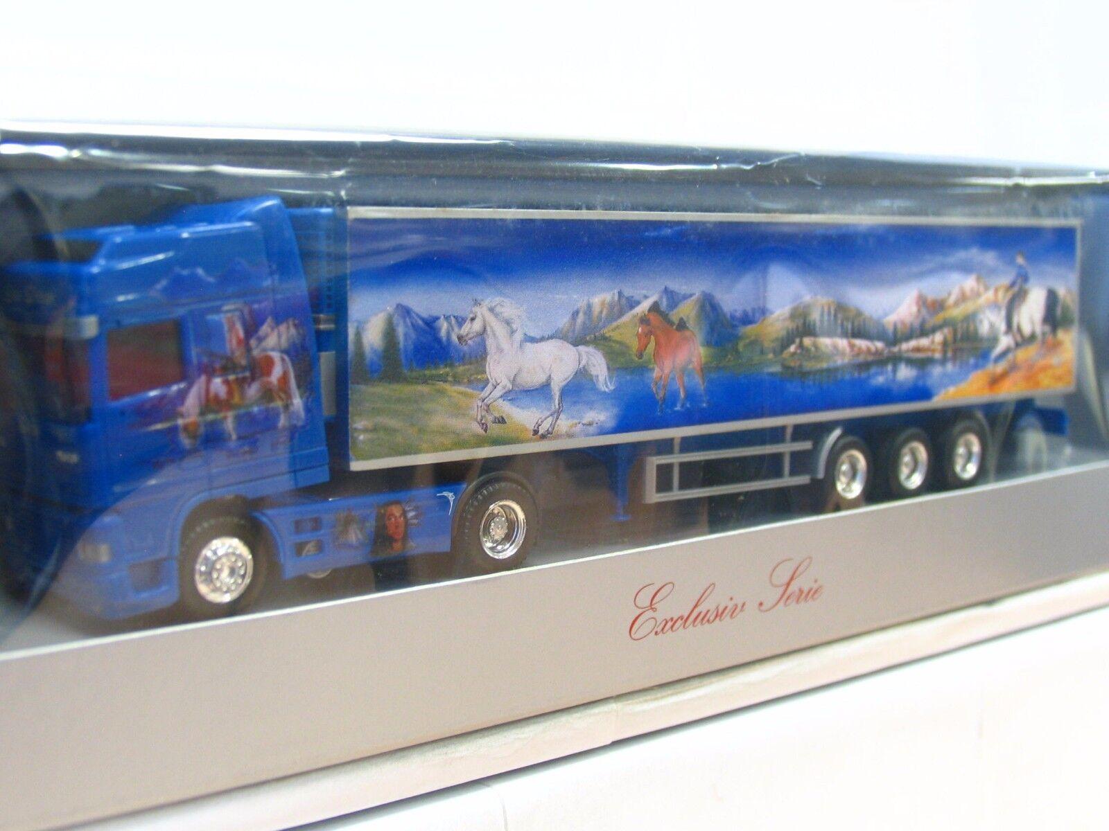 Herpa 1 87 DAF Fridge Suitcase Articulated Dede blueE DREAM OVP (tr9244)