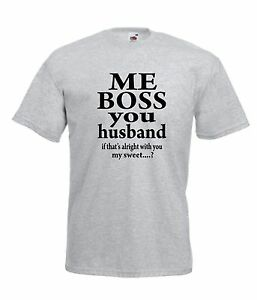 4c12f0aee ME BOSS HUSBAND WIFE NEW funny Men Women T SHIRTS TOP size 8 10 12 ...