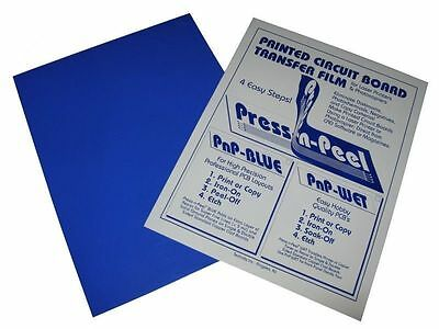 10x Press-n-peel Blue PCB Transfer Paper Film Etch Circuit Board Jewelry