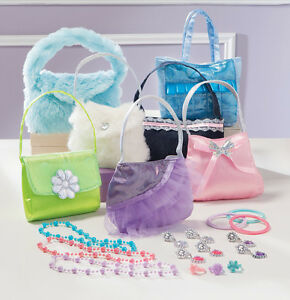 Little Girl S Dress Up Pretend Play Purse And Jewelry Set Adorable 19 Pc Set Ebay