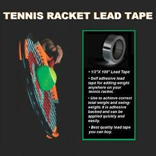 """New Tennis Racket Self Adhesive Lead Tape 1/2"""" x 100"""" Add Weight Easy to Install"""