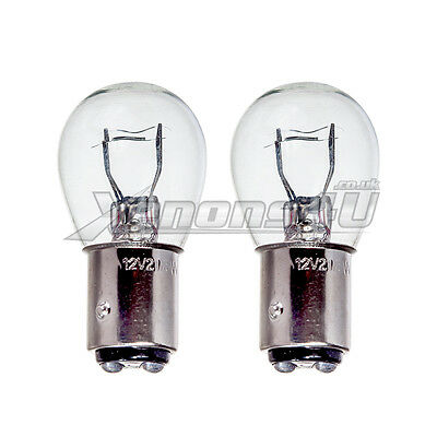 Pair BAZ15d 566 P21//4W LED Rear Fog Parking Side Tail Brake Stop Light Bulbs Red