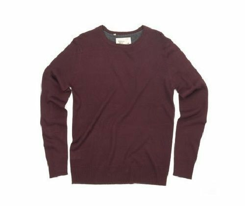 Men/'s Brave Soul Long Sleeve Knitted Crew Neck Jumper Sweater Size XL 2XL