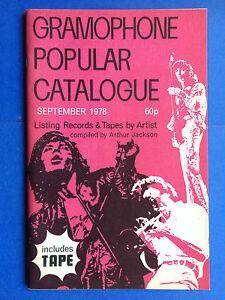 Gramophone Popular Catalogue September 1978 Vinyl Lp Record Guide