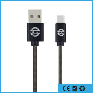 M-Spring-Micro-USB-Ladekabel-fuer-Original-Samsung-Huawei-LG-Android-Sony-PS4-1m