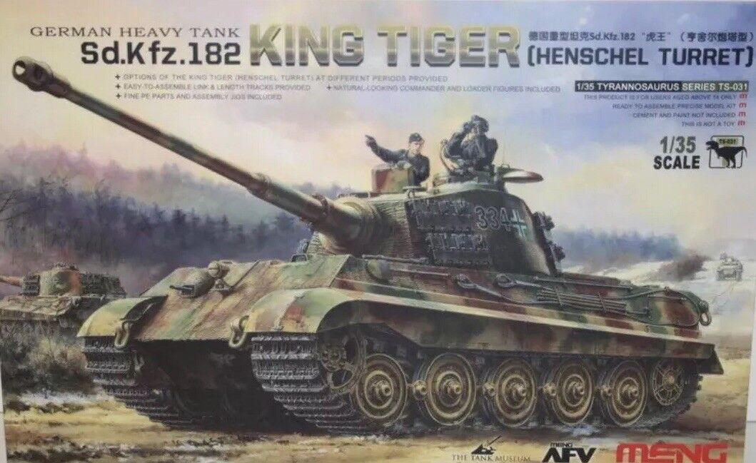 Meng Models 1 35 Scale Kit - King Tiger Sd.Kfz.182 (Henschel Turret) German Tank