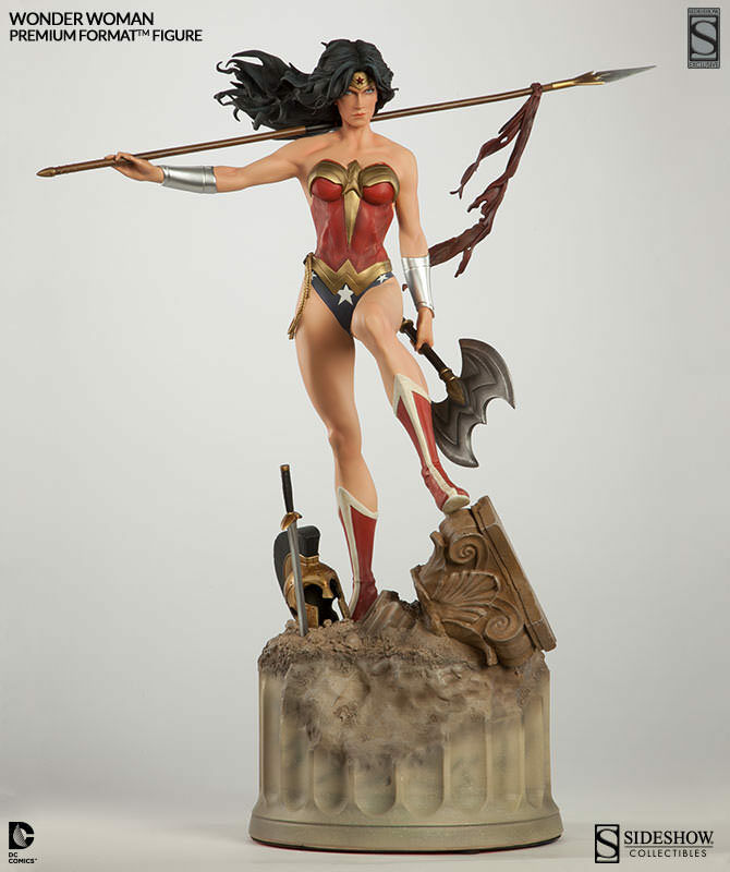 Sideshow Exclusive DC Wonder Woman Premium Format Figure NIB w/Axe FREE SHIPPING