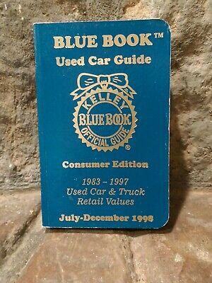 Kelley Blue Book Official Used Car Guide Jul Dec 1998 Car Truck Retail Values 9781883392208 Ebay