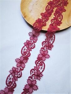 Good Quality Embroidery flower lace trim PRICE FOR 1 YARD