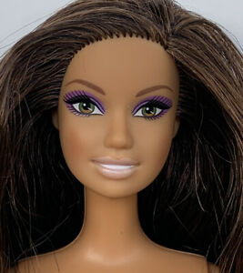 Barbie GJG58 Relaxation Brunette Doll with Pillow, Puppy